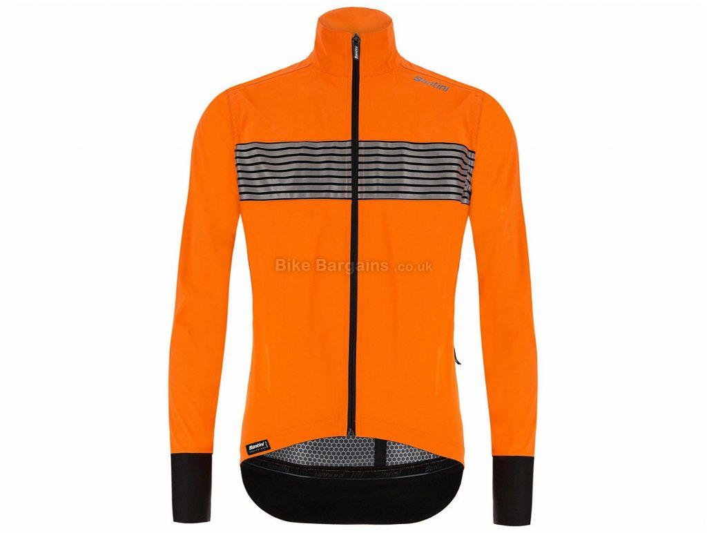 Santini Guard Mercurio Rain Jacket S, Black, Long Sleeve, Men's, Polyester