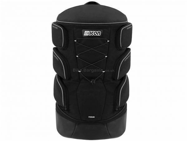 Scicon Podium Pro Backpack Black, One Size, 6 Side Pockets, Nylon