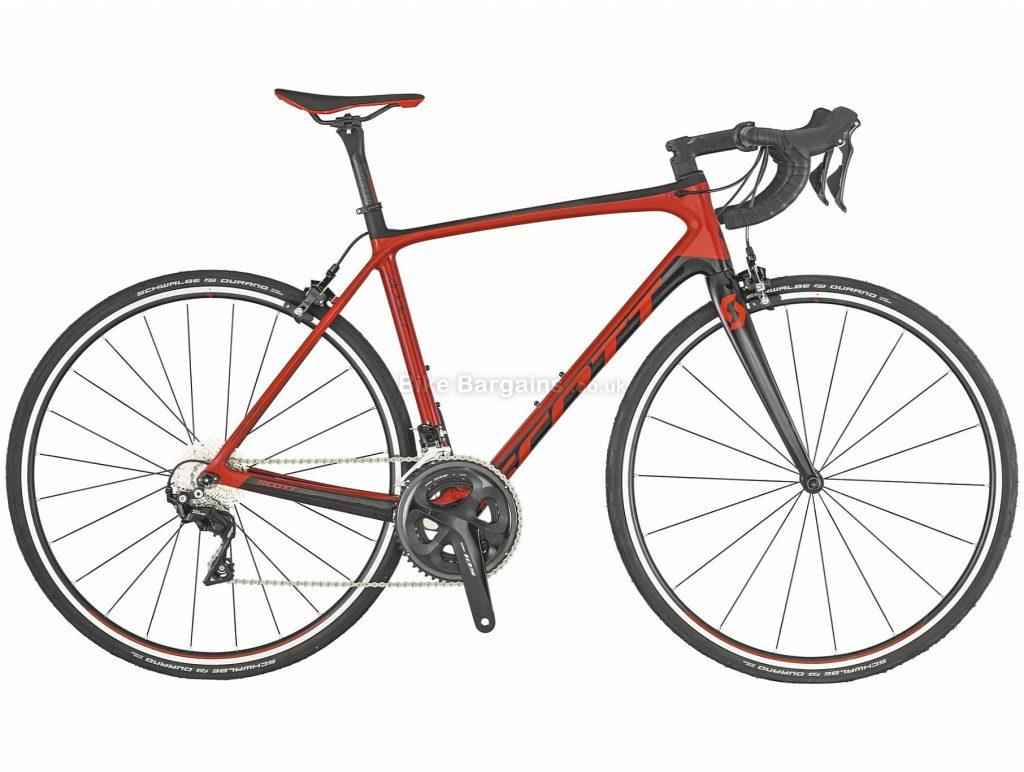 Scott Addict 20 Carbon Road Bike 2019 XXS,XS, Red, Black, Carbon Frame, 700c, 22 Speed, Double Chainring, Caliper Brakes