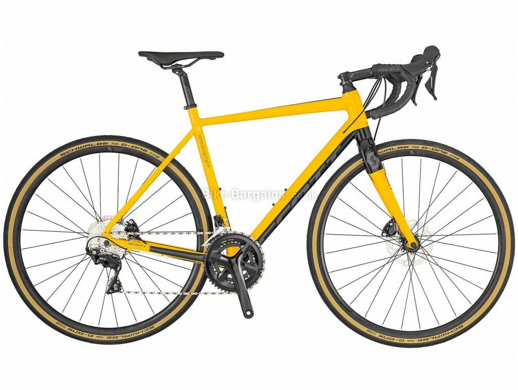 Scott Speedster Gravel 20 Alloy Cyclocross Bike 2019 47cm, Yellow, Black, Alloy Frame, 700c, 22 Speed, Double Chainring, Disc