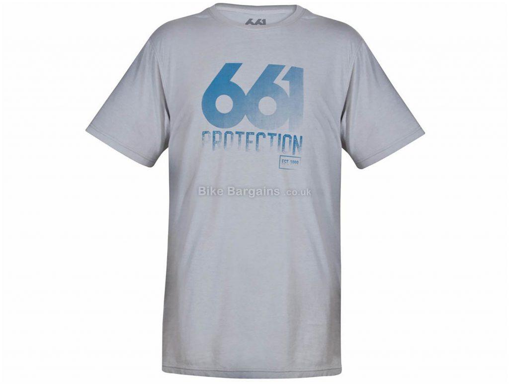SixSixOne Fade T-Shirt XL, Grey, Short Sleeve, Men's, Cotton