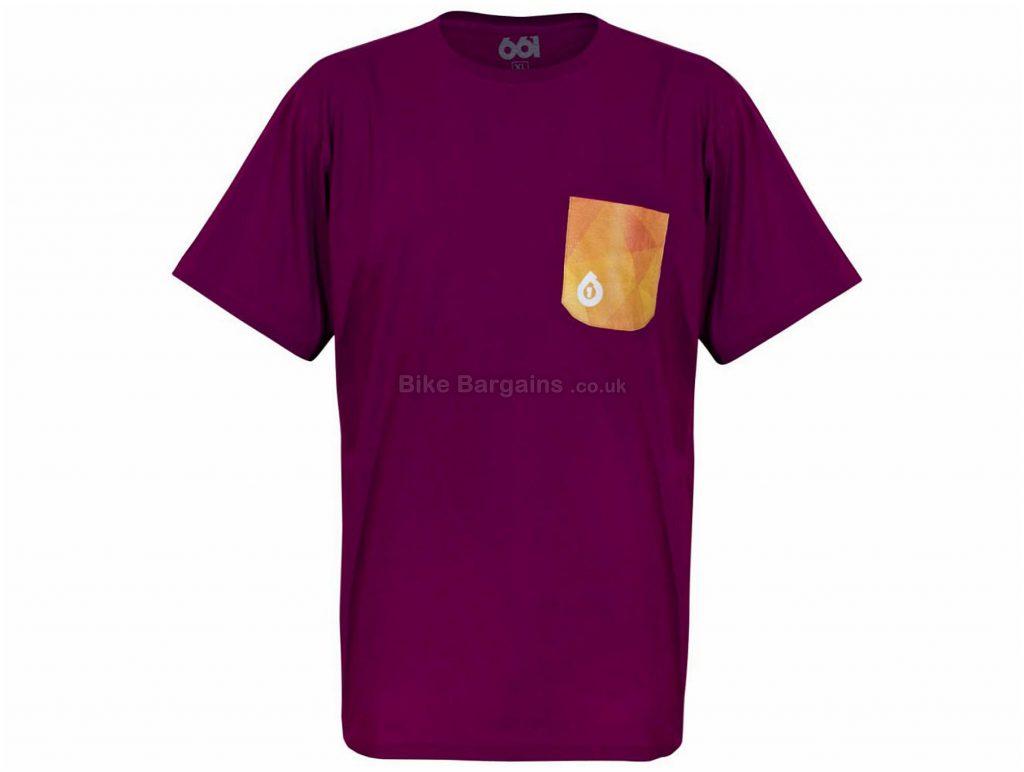 SixSixOne Geo Pocket T-Shirt XXL, Blue, Short Sleeve, Men's, Cotton, Polyester