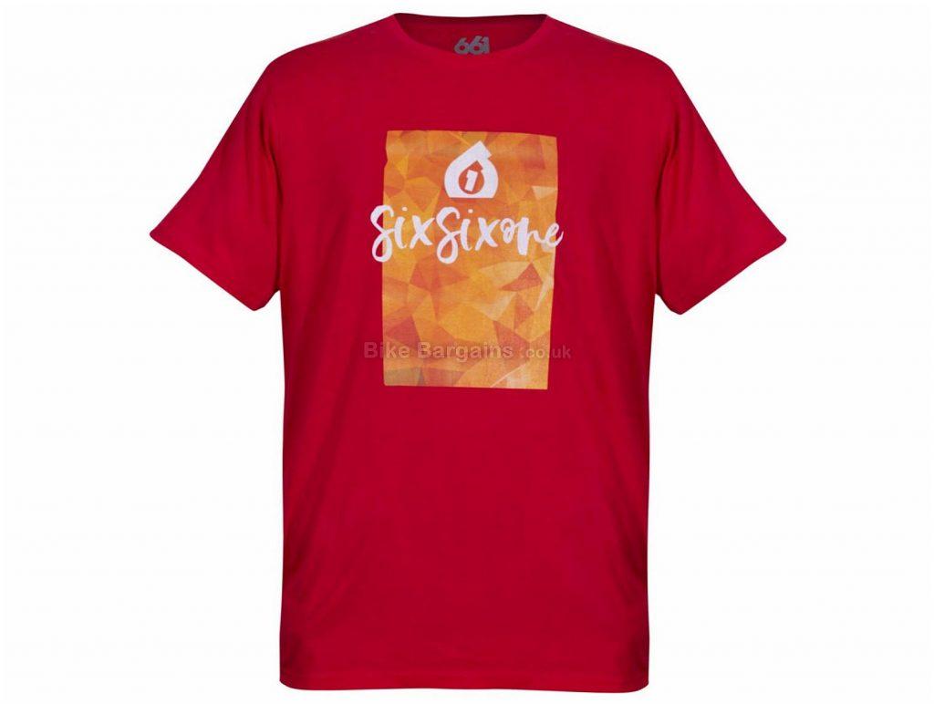 SixSixOne Script T-Shirt S,M, Purple, Short Sleeve, Men's, Cotton, Polyester