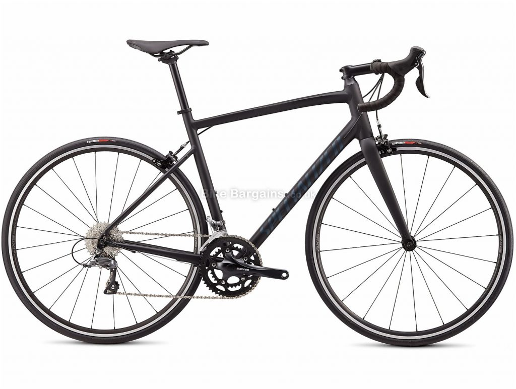 Specialized Allez E5 Alloy Road Bike 2020 44cm, Black, Alloy Frame, Caliper Brakes, 16 Speed, Double Chainring