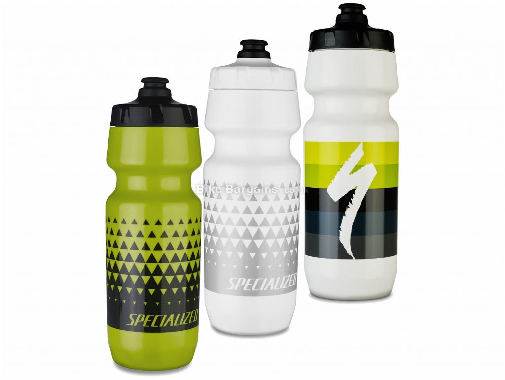 Specialized Big Mouth 24oz Water Bottle 680ml, White, Green, Black, Plastic