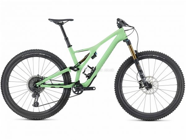 """Specialized S-Works Stumpjumper 29 Carbon Full Suspension Mountain Bike 2019 M, Green, Black, Carbon, 29"""", Single Chainring, 12 Speed, Full Suspension, Disc"""