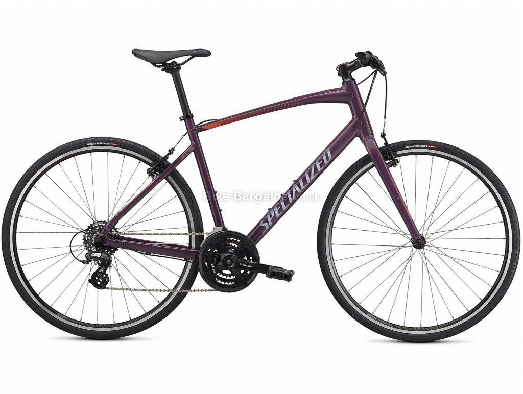 Specialized Sirrus 1.0 Alloy City Bike 2021 XXS,S,M,L,XL, Purple, Black, Alloy Frame, 14 Speed, Caliper Brakes, 700c Wheels, Hardtail