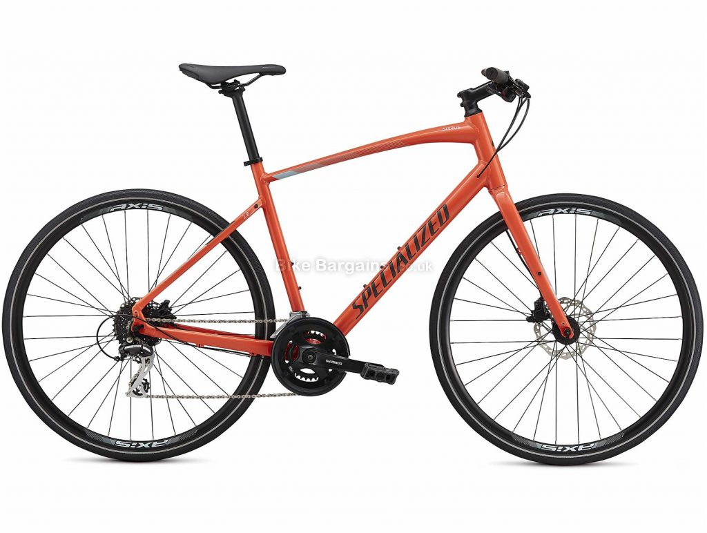 Specialized Sirrus 2.0 Alloy City Bike 2021 XXS,XS,S,M,L,XL, Orange, Green, Black, Alloy Frame, 16 Speed, Disc Brakes, 700c Wheels, Hardtail