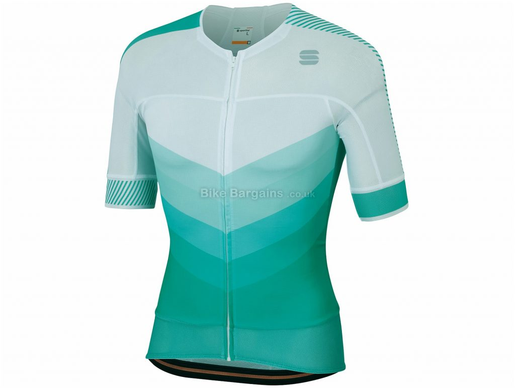 Sportful Bodyfit Pro 2.0 Evo Short Sleeve Jersey XL, Green, Short Sleeve, Men's, Polyester, Elastane