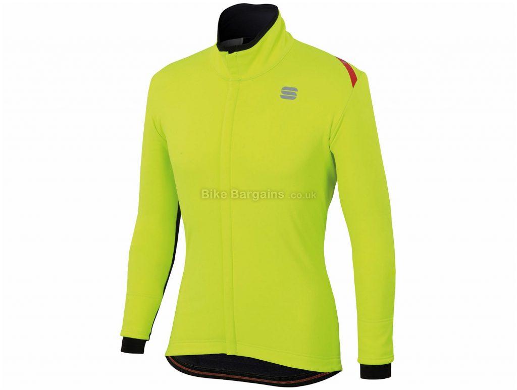 Sportful Fiandre Cabrio Jacket L, Yellow, Long Sleeve, Men's, Polyester, Polyamide, Elastane