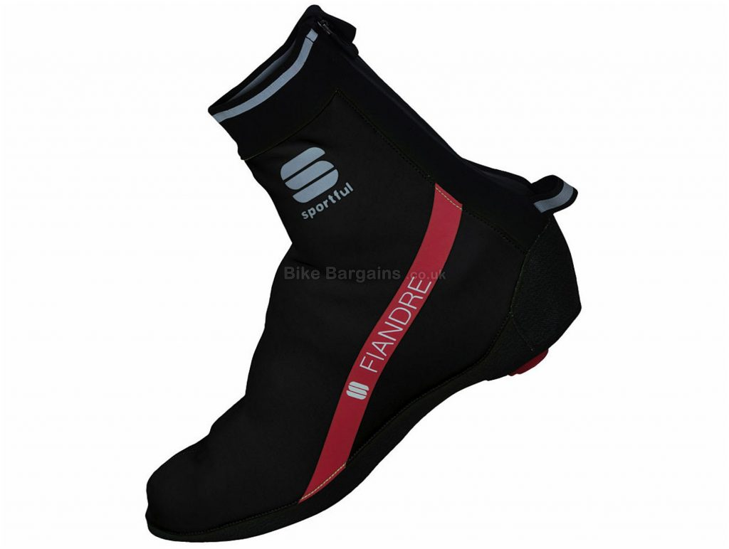 Sportful Fiandre Windstopper Booties Overshoes S, Black, Yellow, Water Resistance, Breathable, Polyester, Polyamide, Polyurethane, Elastane