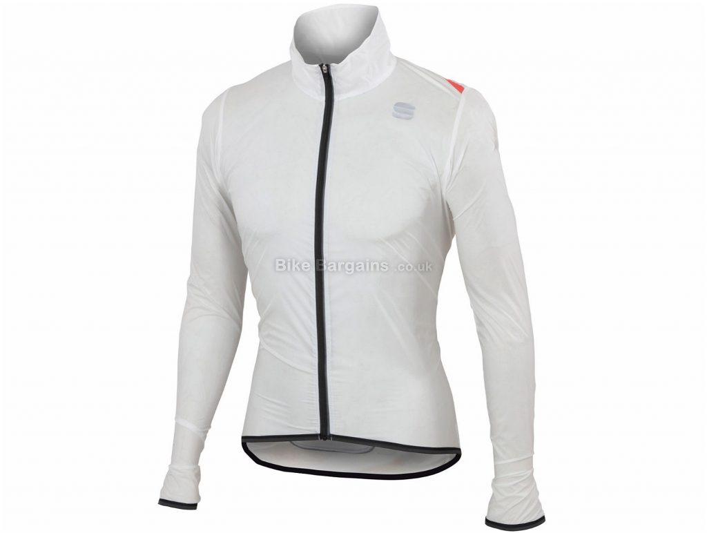Sportful Hot Pack Ultralight Jacket S, White, Long Sleeve, Men's, Polyamide