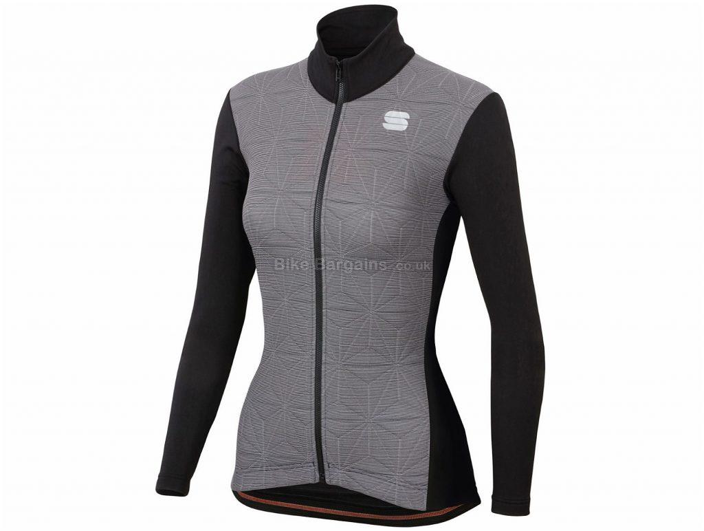 Sportful Ladies Crystal Thermo Jacket L, Grey, Black, Long Sleeve, Ladies, Polyester, Elastane