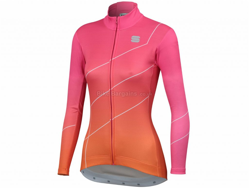 Sportful Ladies Shade Long Sleeve Jersey S, Grey, Long Sleeve, Ladies, Polyester, Elastane