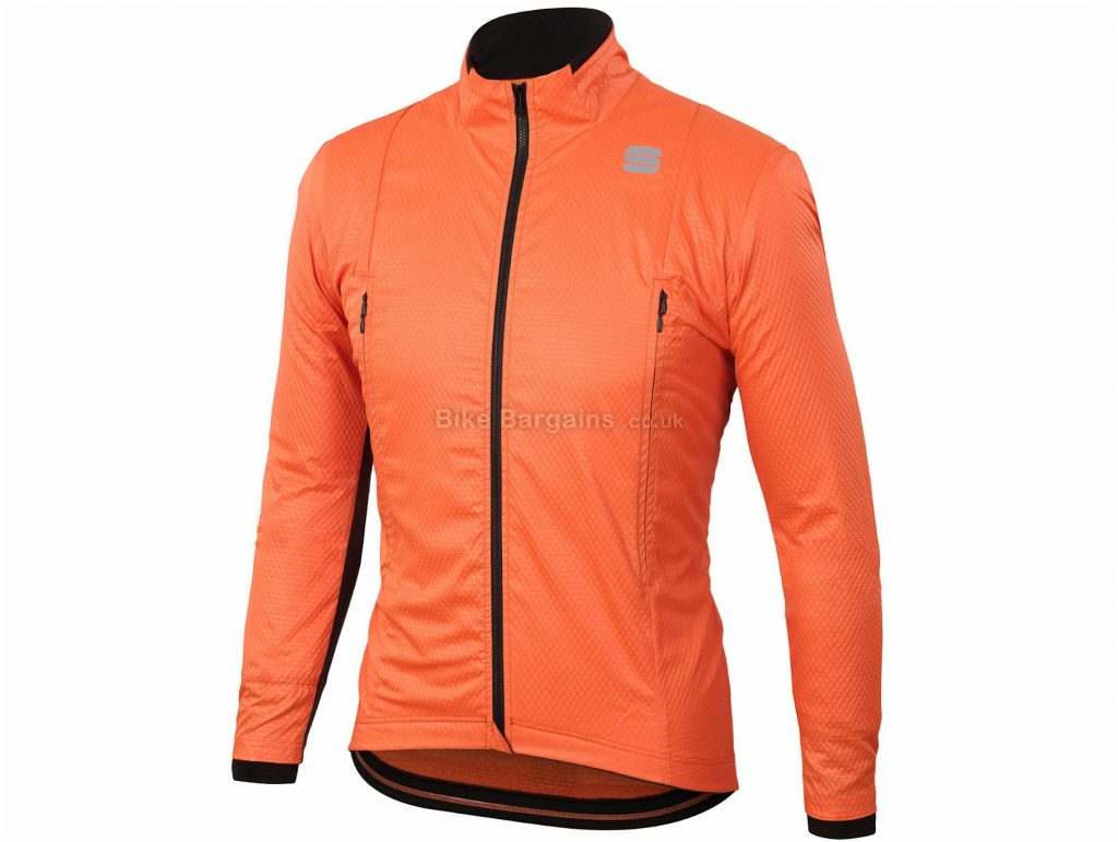 Sportful R and D Intensity Jacket S, Black, Orange, Long Sleeve, Men's, Polyester, Elastane, Polyurethane