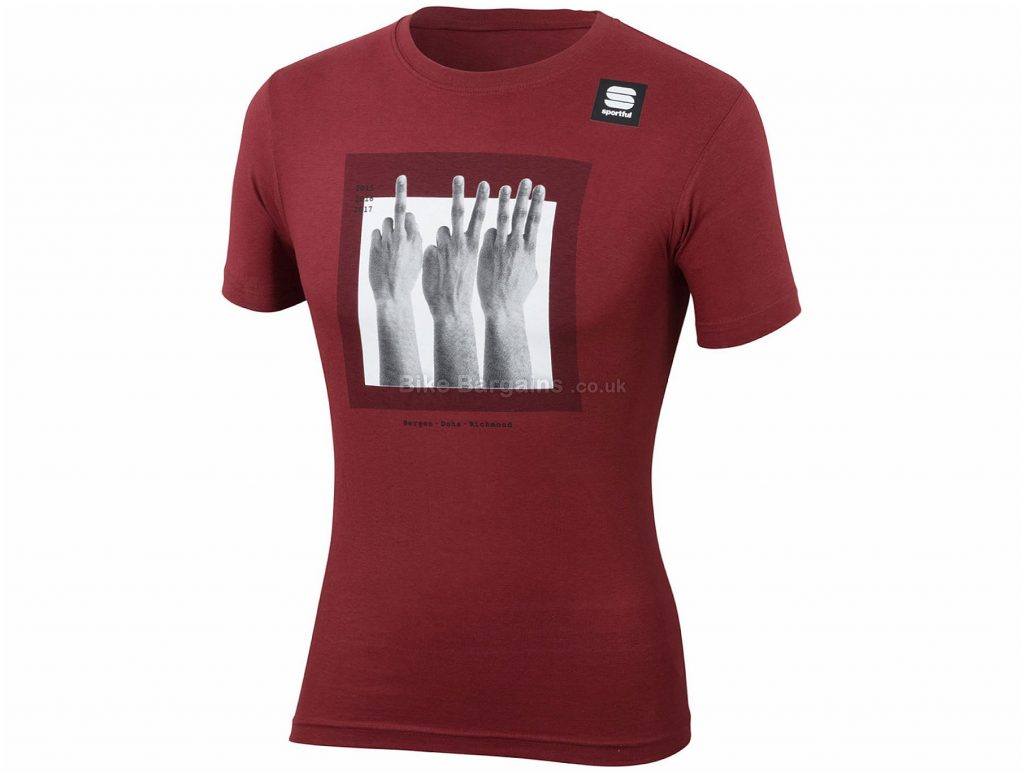 Sportful Sagan Fingers T-Shirt XS,L,XL,XXL,XXXL, Grey, Soft, Comfortable Fit, Short Sleeve, Cotton
