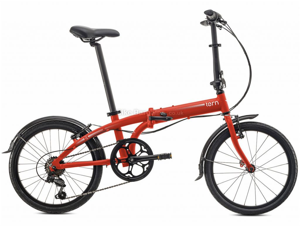 Tern Link B7 Alloy Folding Bike 2020 One Size, Red, Alloy Frame, Caliper Brakes, 7 Speed, Single Chainring, Hardtail, 12.1kg
