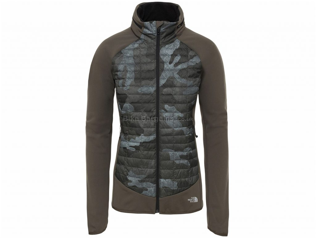 The North Face Ladies ThermoBall Hybrid Jacket XL, Brown, Grey, Water Repellent, Breathable, Ladies, Long Sleeve, Nylon, Polyester, Elastane