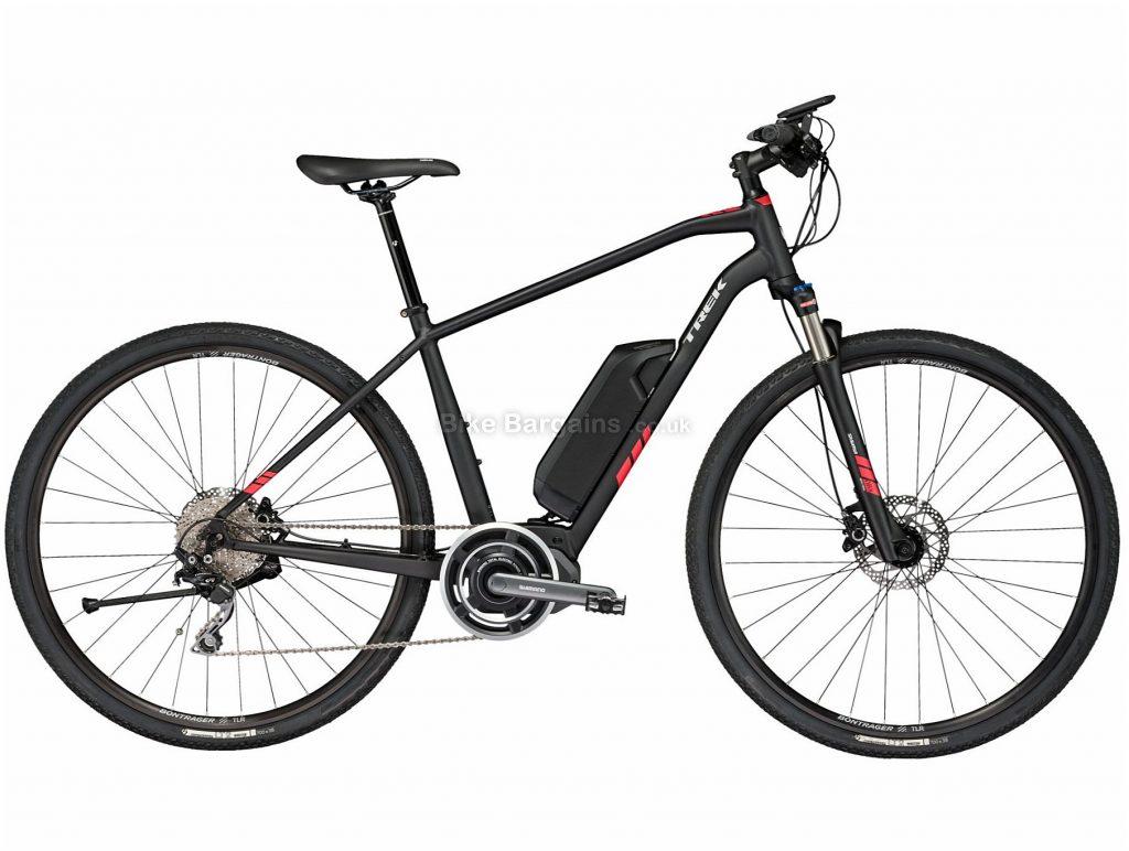 "Trek Dual Sport Plus Electric Bike 2018 17"", Black, Alloy, 700c, Disc, 10 Speed, Single Chainring"