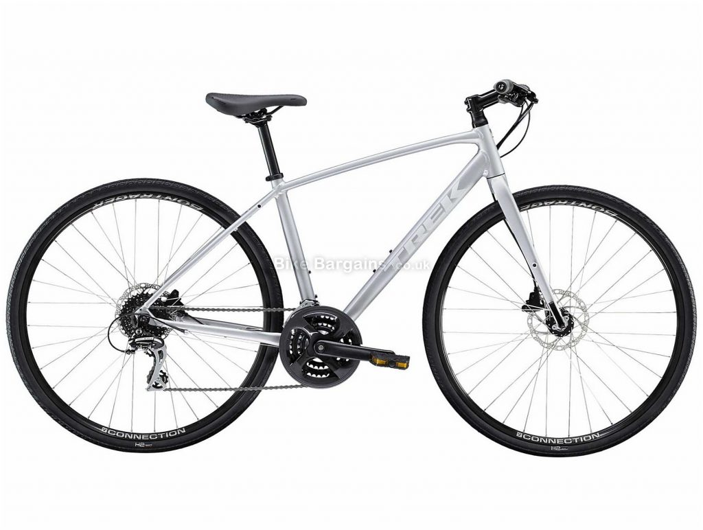 Trek FX 2 Disc Ladies Alloy City Bike 2020 S,M,L, Grey, Alloy Frame, 24 Speed, Disc Brakes, 700c Wheels, Hardtail