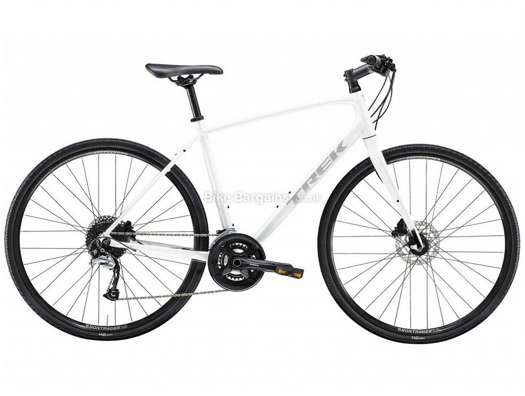 Trek FX 3 Disc Alloy City Bike 2020 S,M,L,XL,XXL, White, Red, Alloy Frame, 18 Speed, Disc Brakes, 700c Wheels, Hardtail, 11.7kg