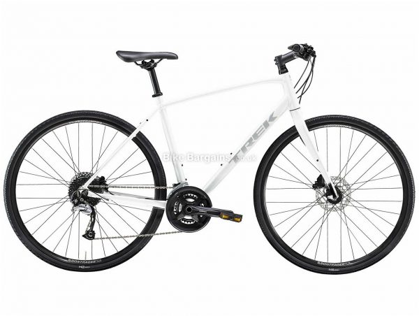 Trek FX 3 Disc Alloy City Bike 2020 S,M,L,XL,XXL, White, Red, Alloy Frame, 18 Speed, Disc Brakes, 700c Wheels, Hardtail, 11.7kg
