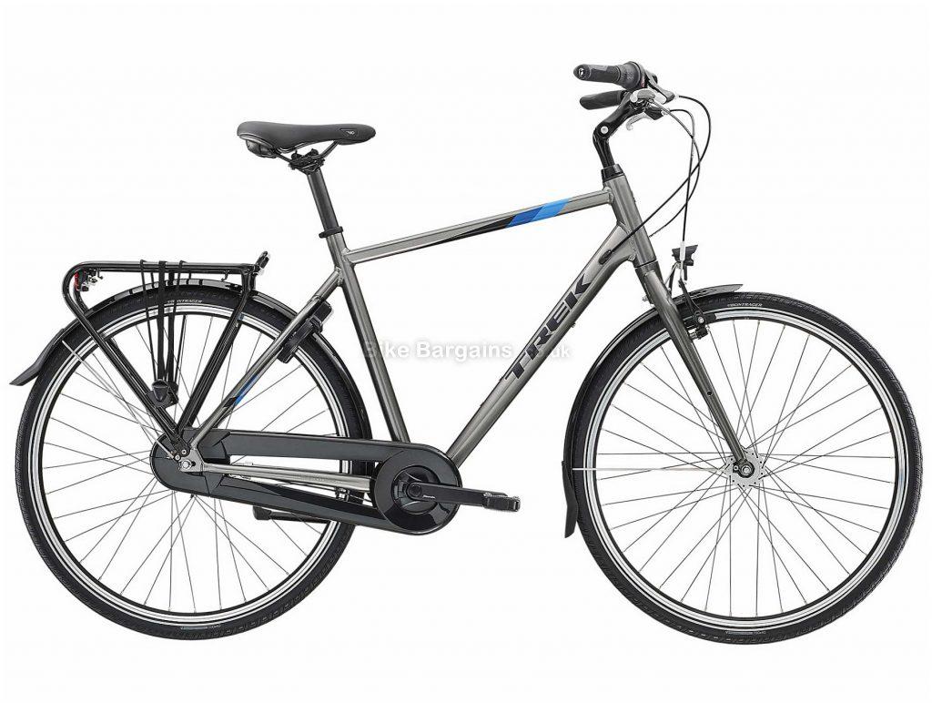 Trek L100 Alloy City Bike 2020 XL, Grey, Silver, Alloy Frame, 7 Speed, Caliper Brakes, 700c Wheels, Hardtail, 17.5kg