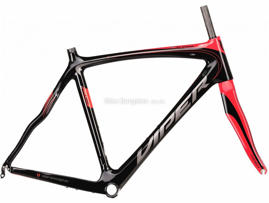 Viper Galibier Carbon Road Frame 58cm, Black, Red, White, Grey, Carbon Frame, 700c, Caliper Brakes