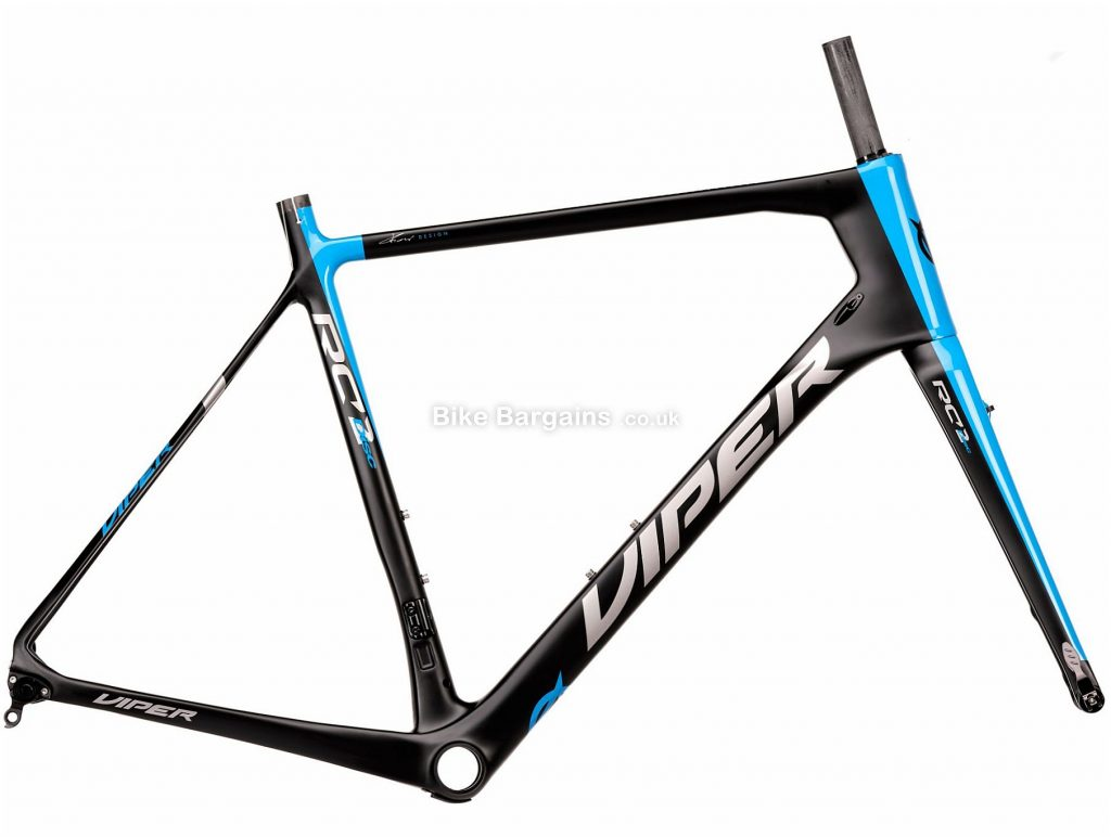 Viper RC2 DB Disc Carbon Road Frame 59cm, Black, Blue, Grey, Carbon Frame, 700c, Disc