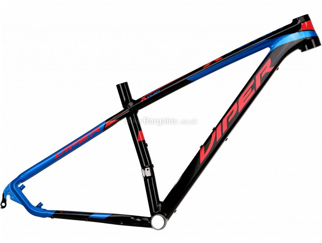 "Viper X Team 29 Alloy Hardtail Mountain Bike Frame 16"", Black, Red, Blue, Alloy Frame, 29"", Hardtail, Disc"