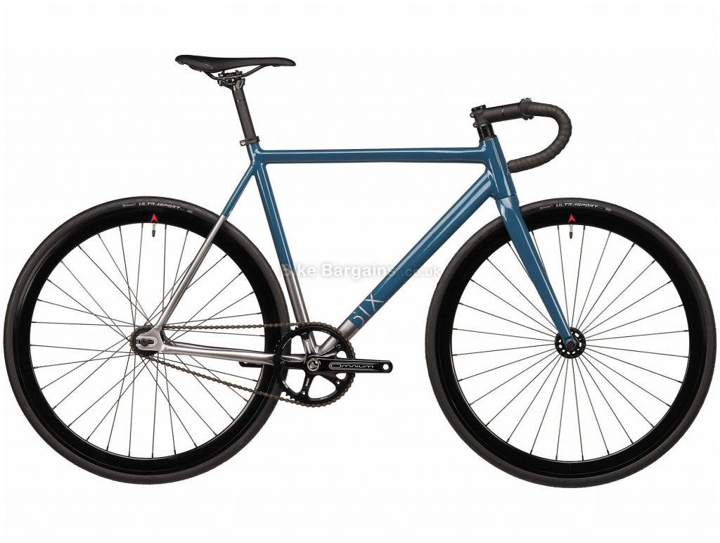 Vitus Six Single Speed Alloy Track Bike 2020 L, Blue, Silver, Alloy Frame, 1 Speed, Single Chainring, Hardtail