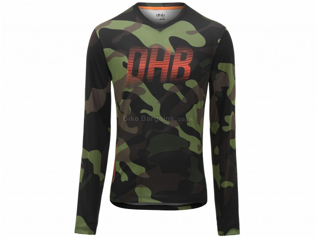 dhb All Mountain Long Sleeve Jersey M, Green, Purple, Lightweight Wicking Fabric, Long Sleeve, Polyester