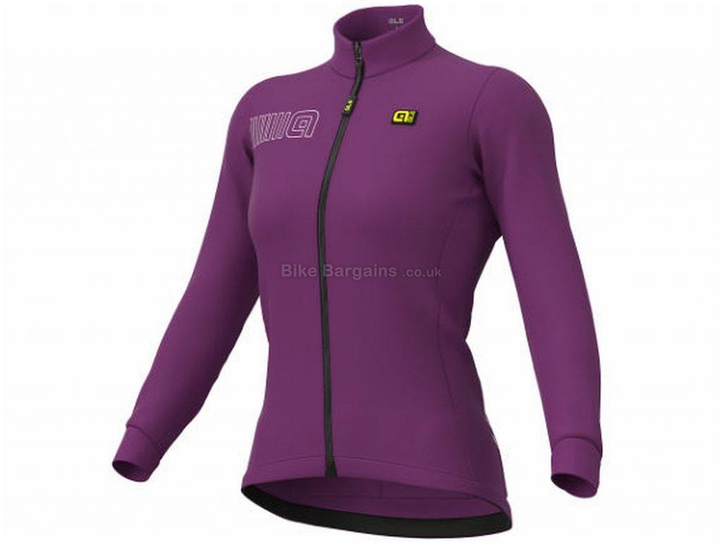 Ale Ladies Color Block Long Sleeve Jersey XS, Purple, Thermal Fabric, Long Sleeve, Ladies, Polyester, Elastane