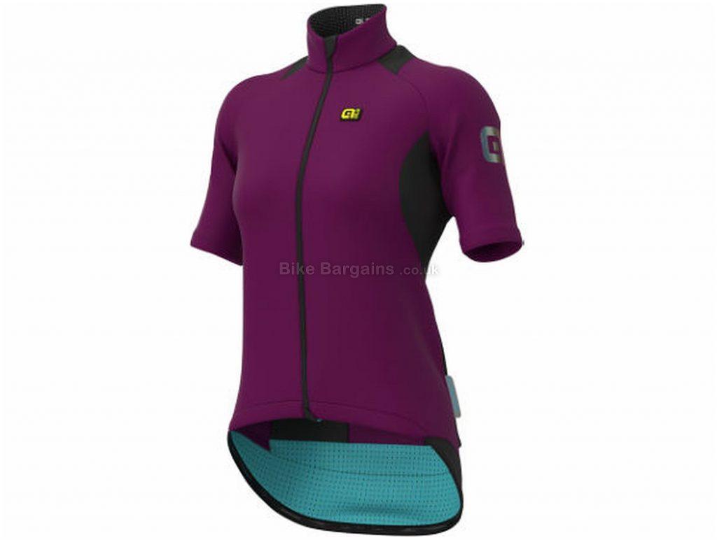Ale Ladies K-Idro Short Sleeve Jersey L, Black, Wind And Water Repellent, Short Sleeve, Ladies, Polyamide, Elastane