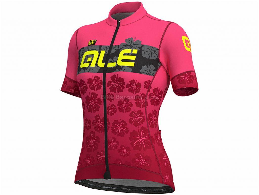 Ale Ladies PRS MC Ibisco Short Sleeve Jersey L,XL,XXL, Black, Grey, Pink, Lightweight And Breathable, Short Sleeve, Ladies, Polyester, Elastane
