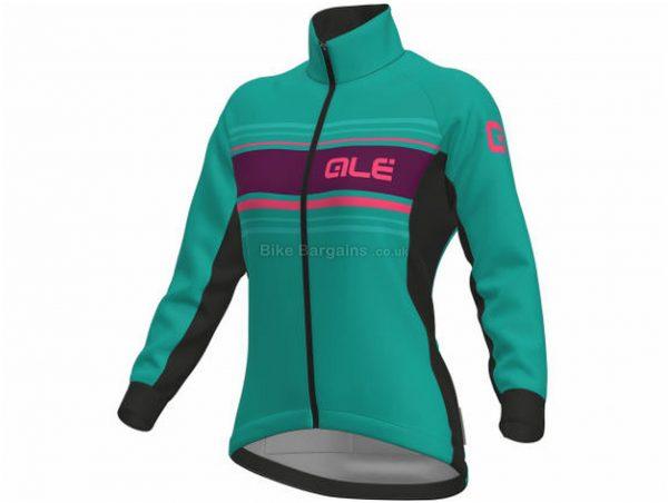 Ale Ladies Sinuosa DWR Jacket XS, Blue, Turquoise, Red, Wind-Blocking, Long Sleeve, Ladies, Polyester, Elastane