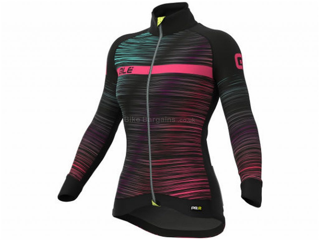 Ale Ladies The End Jacket XS, Red, Windproof Fabric, Long Sleeve, Ladies, 400g, Polyester, Elastane