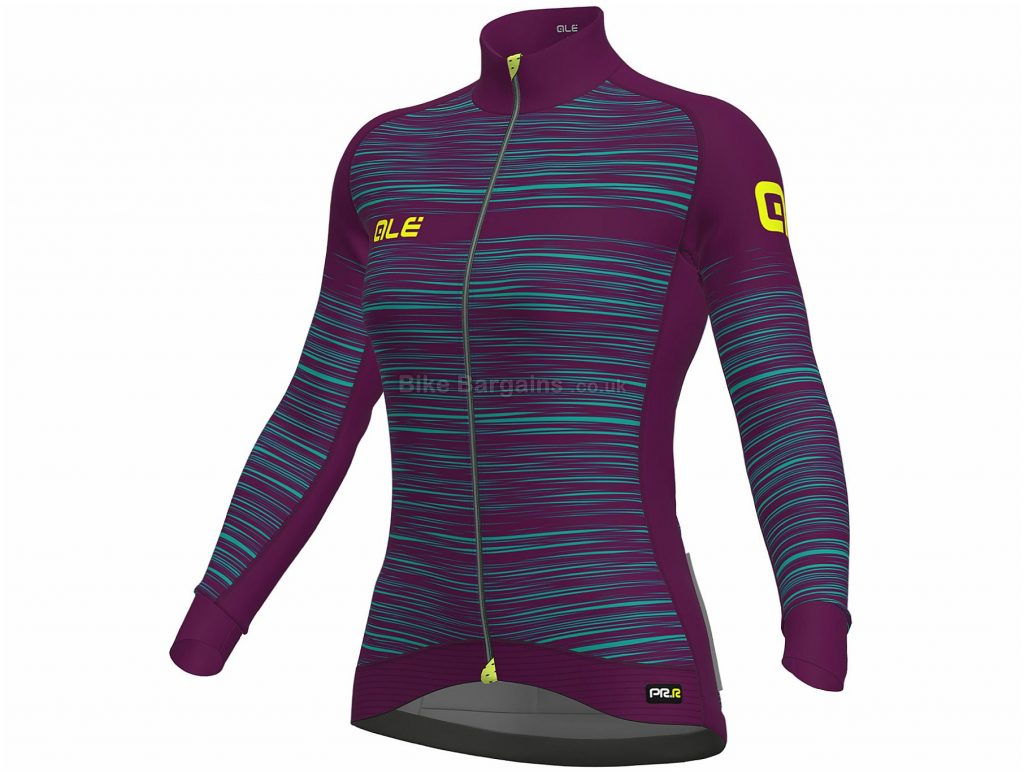 Ale Ladies The End Long Sleeve Jersey XS, Blue, Red, Turquoise, Long Sleeve, Polyester, Elastane, Polyamide, Ladies
