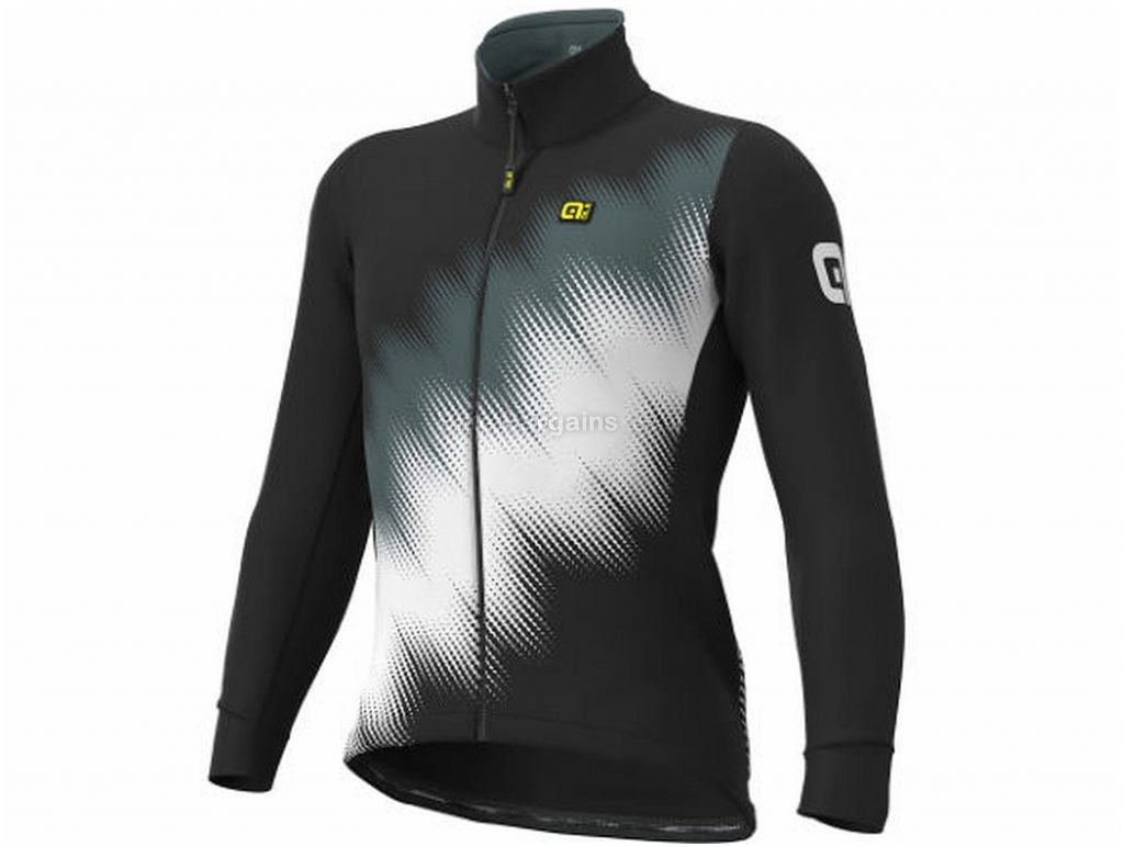 Ale Pulse Stretch Jacket XS,S, Black, Orange, Red, Yellow, Windproof & Breathable, Long Sleeve, Men's, 440g, Polyester, Elastane