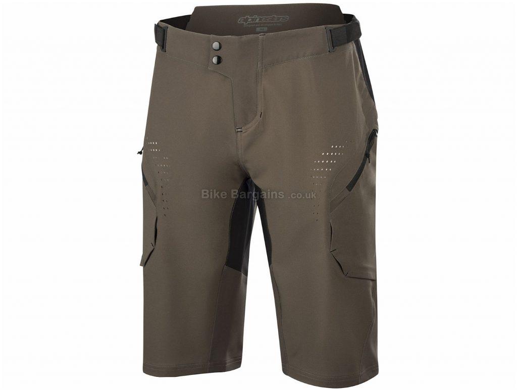 "Alpinestars Alps 8.0 Shorts 38"", Brown, Water Resistance Treatment, Men's, Baggy, Polyester, Polyamide, Elastane"