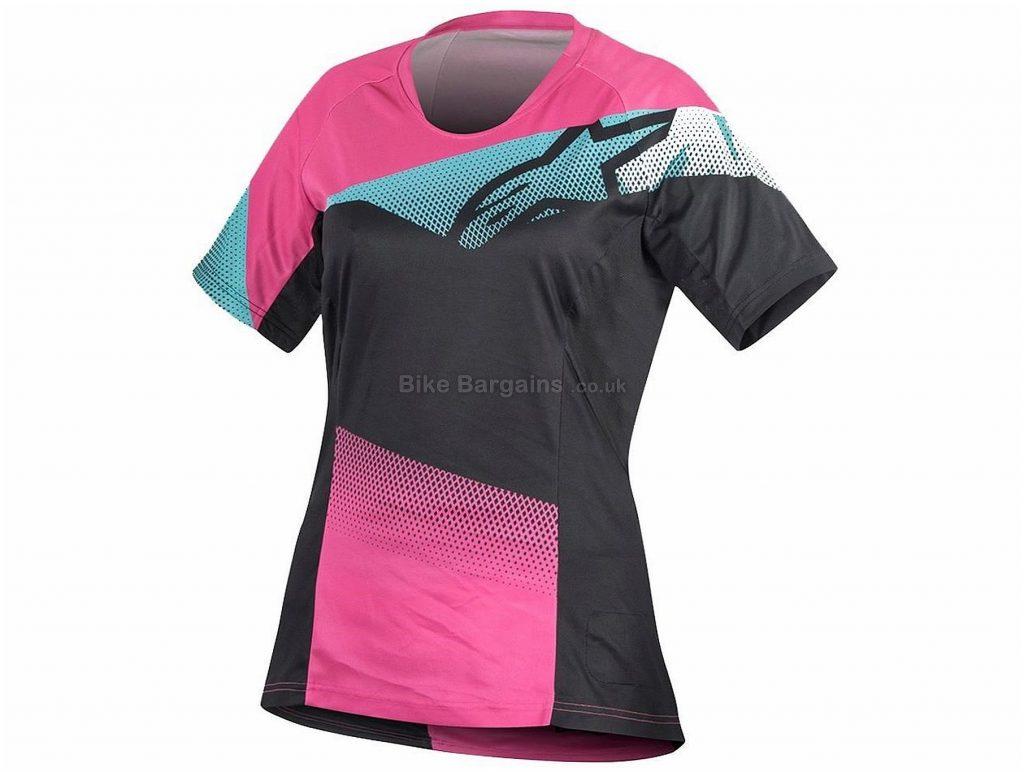 Alpinestars Stella Mesa Ladies Short Sleeve Jersey XS, Blue, Moisture Wicking Fabric, Ladies, Short Sleeve, Polyester, MTB