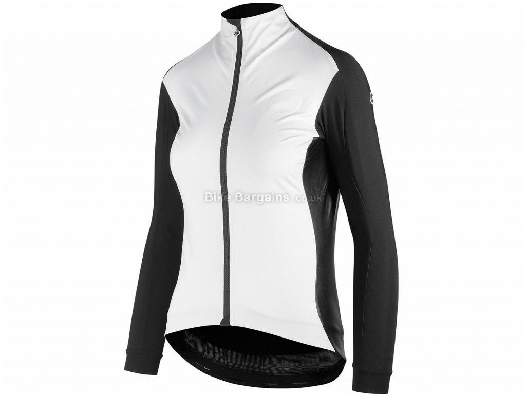Assos Bonka Laalalai Ladies Jacket XL, White, Black, Water Resistant, Long Sleeve, Ladies, Polyamide, Elastane, Polyester