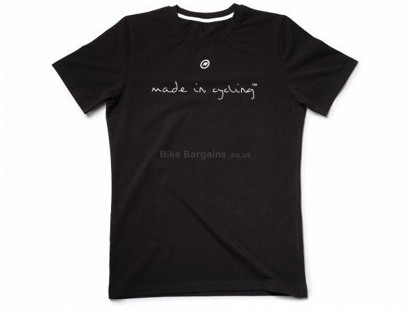 Assos Made in Cycling Short Sleeve T-Shirt S, Red, Soft Cotton Blend, Short Sleeve, Men's, Cotton, Elastane