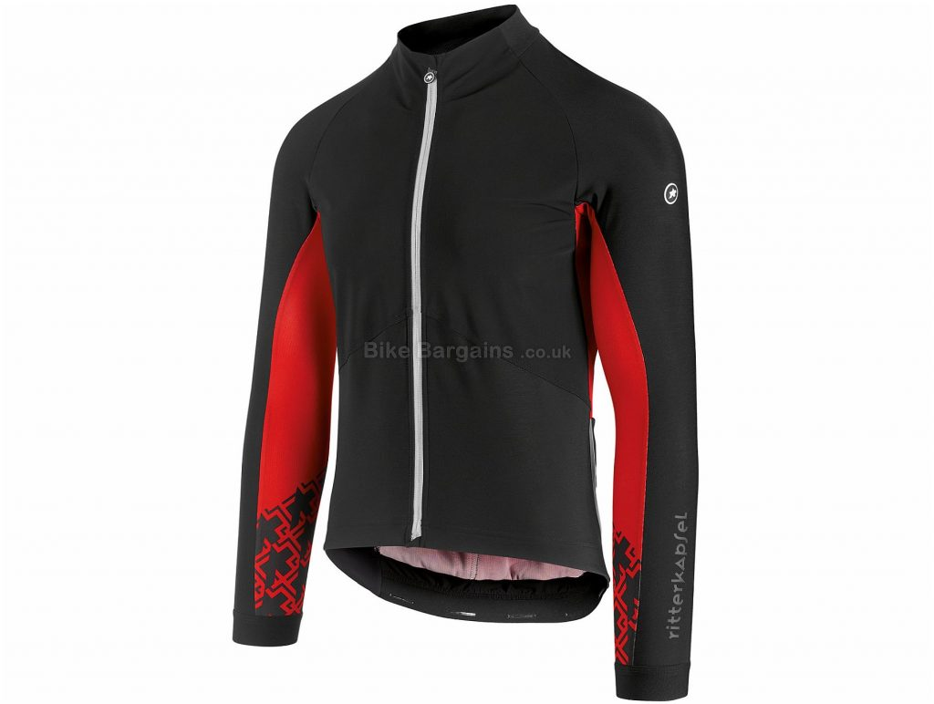 Assos Mille GT Jacket XS, Red, Black, Highly Breathable, Men's, Long Sleeve, Polyamide, Polyester, Elastane , Road
