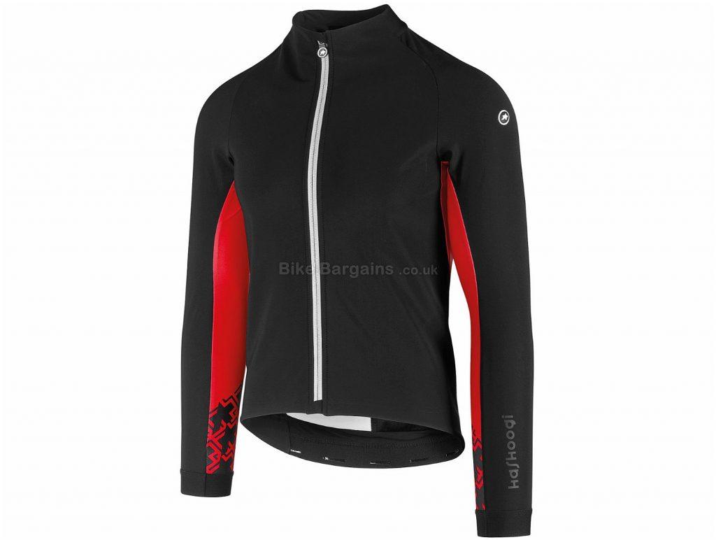Assos Mille GT Winter Jacket XS, Black, Red, Waterproof, Breathable, Long Sleeve, Men's, Polyamide, Polyester, Elastane