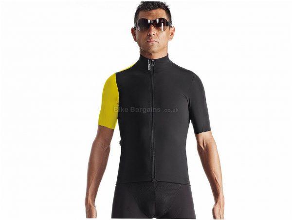 Assos SS.Campionissimo Short Sleeve Jersey XS, White, Black, Yellow, Summer Jersey, Short Sleeve, Men's, Polyamide, Polypropylene, Elastane, Polyester