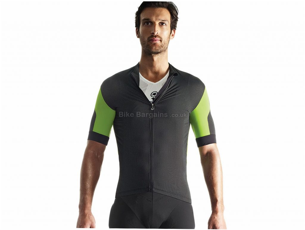 Assos SS.rallytrekking_evo7 Short Sleeve Jersey S, Black, Green, Lightweight & Comfortable, Men's, Short Sleeve, Polyamide, Elastane, Polyester, MTB
