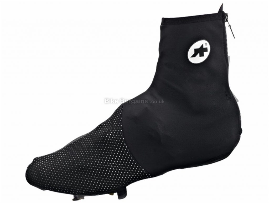 Assos ThermoBootie.Uno_S7 Overshoes XS, Black, Windproof, Water Resistant, Men's, Ladies, Polyamide, Polyester, Elastane, Polyurethane, Road
