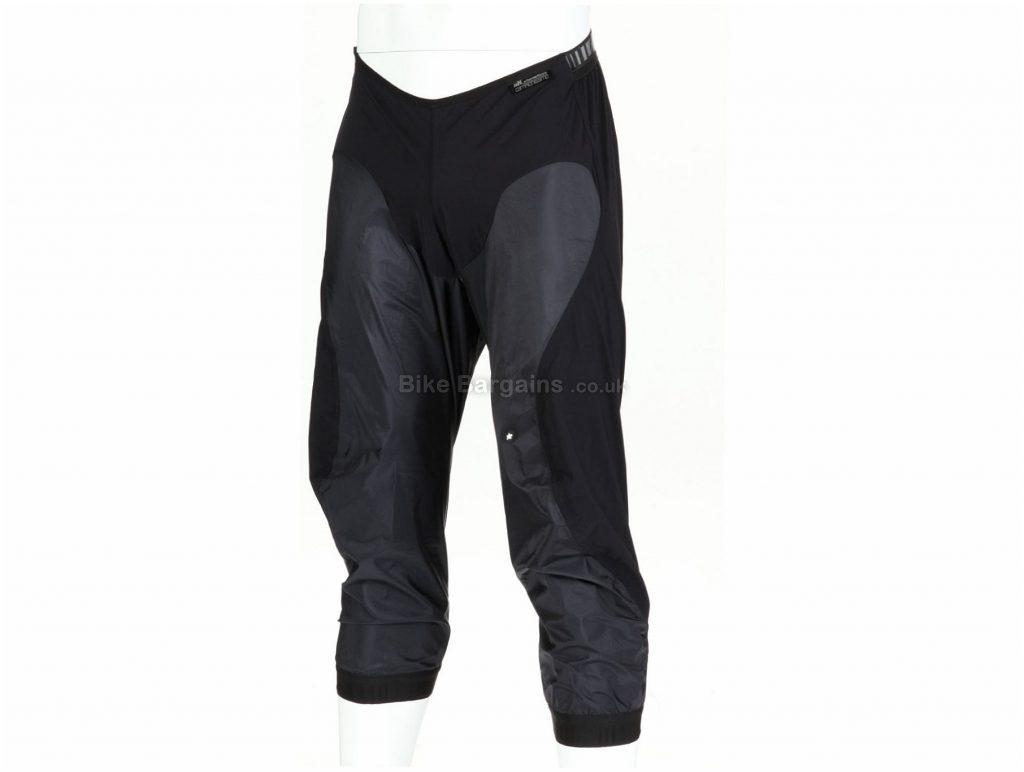 Assos hK_sturmNuss Rain Shell Half Knicker Shorts XXXL, Black, Water Repellent, Baggy, Men's, Polyamide, Elastane, Polyurethane