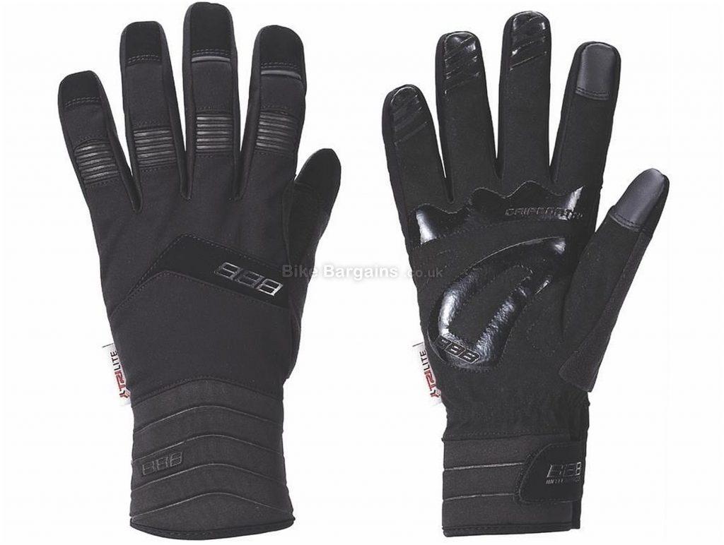 BBB BWG-29 WaterShield Winter Gloves XS, Black, Waterproof, Windproof, Breathable, Men's, Full Finger, Neoprene, Velcro, Foam, Silicone, Road, MTB